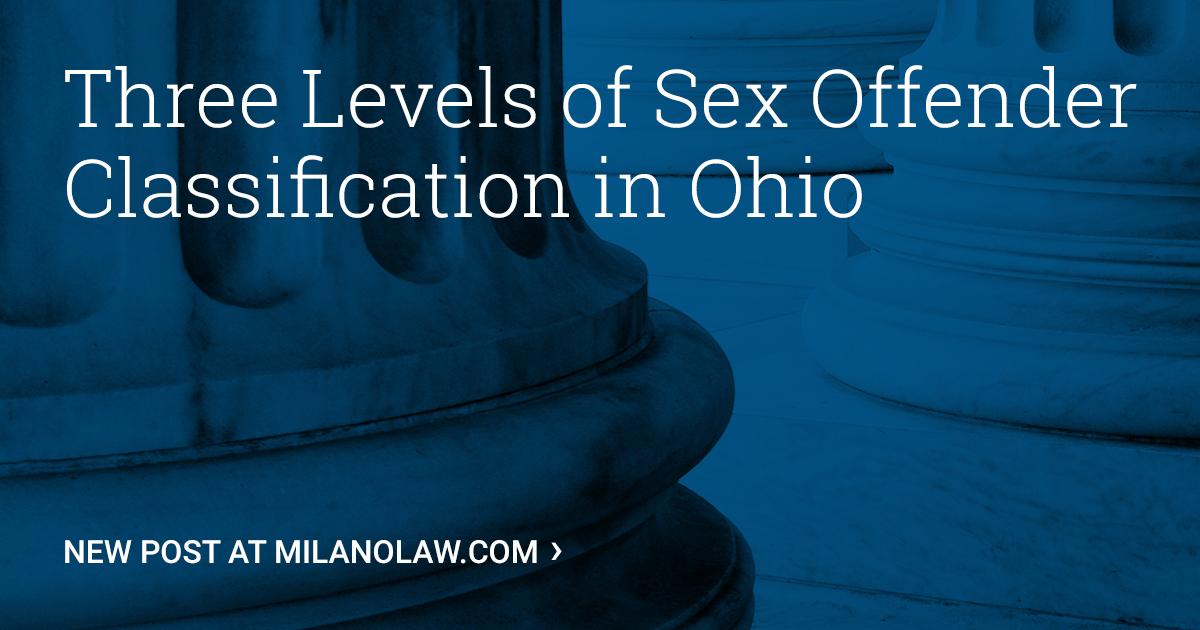 Ohio laws on sexual predator